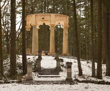 afterglow mausoleum - stock photo