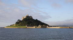 St Michael's Mount Marazion Cornwall England medieval castle in Mount's Bay Stock Footage