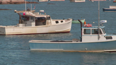 Lobster Boats in Stonington Harbor 3 Stock Footage