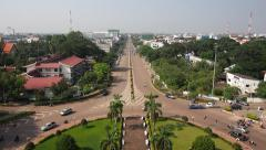 Timelapse View of Traffic in Vientiane, Laos Stock Footage