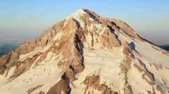 Aerial Mt Hood Stock Footage
