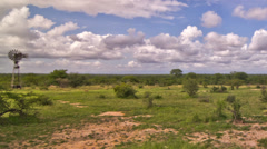 African Savannah Time Lapse Pan Stock Footage