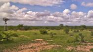 Stock Video Footage of African Savannah Time Lapse Pan