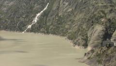 Hydroelectric reservoir. Water dam. Grimsel Lake. Switzerland. Stock Footage
