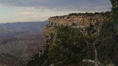 Grand Canyon Landscape Pan Left Stock Footage