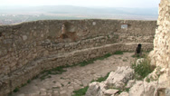 Stock Video Footage of Old castle and city over the wall