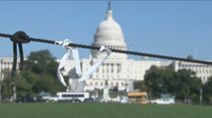 Rack Focus - Government Shutdown  Stock Footage