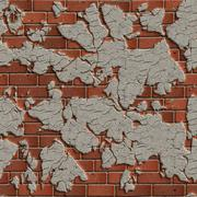 Terracotta Brick Wall. Seamless Tileable Texture. - stock photo