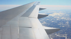 Airplane Flying Sequence Tilt Shift Stock Footage