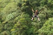 Stock Photo of zipline adventure