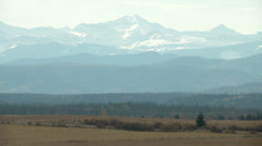 Mountains rising from prairies Stock Footage