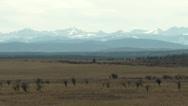 Autumn prairies and distant mountains Stock Footage