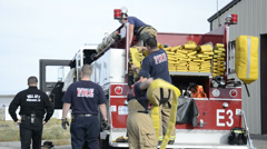 Fireman Teamwork Stock Footage