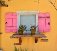 old open window - stock photo