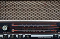 Vintage radio dial Stock Photos