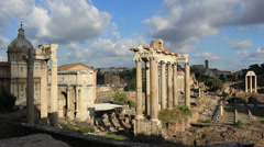 Roman Forum, light slowly changes. IDEAL FOR END CREDITS. Stock Footage