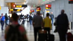 Airport Travelers People - stock footage