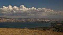 Sea of Galilee timelapse 0913 2 HD Stock Footage