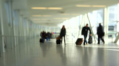 Airport Travelers People Tilt Shift - stock footage