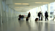 Stock Video Footage of Airport Travelers People Tilt Shift
