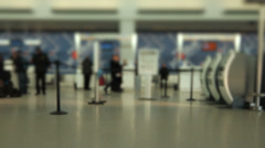 Airport Travelers Check-in Area Tilt Shift - stock footage