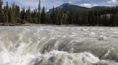 Athabasca River Above Athabasca Falls - stock footage