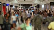 Stock Video Footage of Airport Travelers People