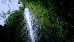 Jungle Waterfall, Hawaii Motion Control, Dolly Shot Stock Footage