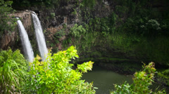 Wailua Waterfall, Kauai, Hawaii, Falls, Kauai Stock Footage