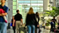 Airport Travelers Time Lapse Zoom - stock footage