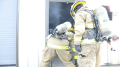 Fireman Rescue 1 Stock Footage