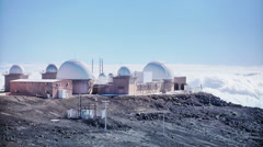 Star Astronomical Observatory, Day, HDR Time Lapse Day, Haleakala, Hawaii Stock Footage