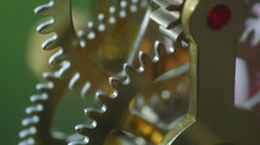 steampunk steam punk clockwork clock jules verne 4 - stock footage