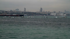 Turkey Istanbul View on Bosphorus - stock footage