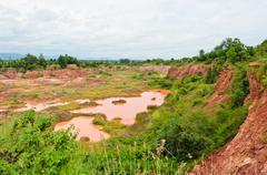 excavated soil - stock photo