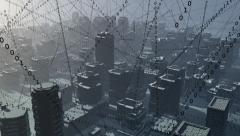 City full of data. - stock footage