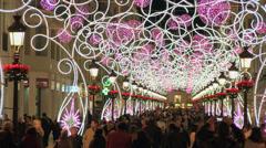 Malaga Christmas Decoration Stock Footage