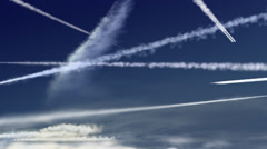Airplane trails Stock Footage
