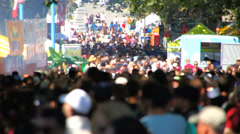 Anonymous Large Crowd - stock footage