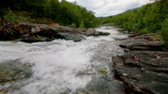 River in Norway Stock Footage