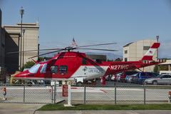 Rescue emergency trauma helicopter Stock Photos