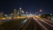 Stock Video Footage of Atlanta Cityscape Time Lapse Zoom