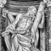 saint andrew statuary - rome - stock photo