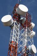 Telecommunications towers Stock Photos