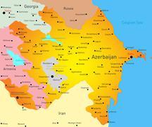 Stock Illustration of Map of Azerbaijan