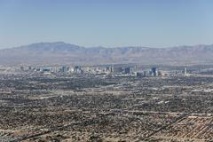 Las vegas valley sprawl Stock Photos