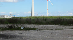 Wind Turbine for Power Generation Stock Footage
