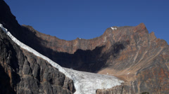 Cloud Shadow Over Angel Glacier Time Lapse Stock Footage