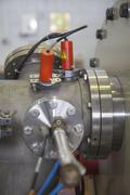 Details of equipment in nuclear lab, ION accelerator Stock Photos