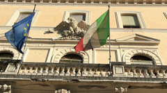 Italian flag, Eagle, Anno Domini 3 Stock Footage
